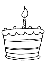 Small Picture Birthday cake coloring pages with seven candles ColoringStar