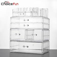 choice fun large makeup organizer multifunction storage box acrylic cosmetic organizer box 4 drawers makeup storage sf 20162 251