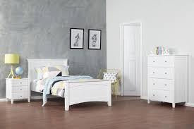 Oliver White King Single Timber Kids Bed Bedshed