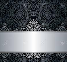 Free Invitation Background Designs Black Silver Vintage Invitation Background Design Royalty Free