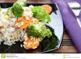 broccoli   carrots w  white rice