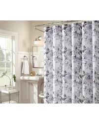 Image Mainstays Classic Better Homes And Gardens Aprima Gray Black White Floral Leslie Fabric Shower Curtain From Big Lots Bhgcom Shop