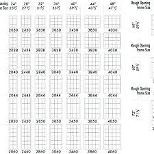 Standard Single Hung Window Size Chart Standard Window Sizes Chart Itwindow Co