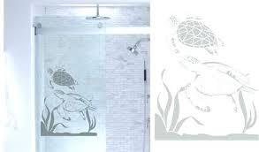 glass door decals home depot shower door decals sea turtles ocean etched glass vinyl window s