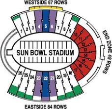 Sun Bowl Stadium Seating Chart Utep Miners Football Football Schedule College Football