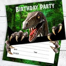 Dinosaur Birthday Invitation Dinosaur Birthday Party Invites Ready To Write Birthday Invitations With Envelopes Pack 10