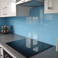 Azure Sky Kitchen Glass Splashback by CreoGlass Design (London,UK). View  more toughened glass splahback designs and non-scratch worktops on www.cre