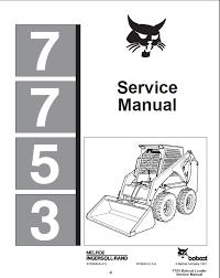 bobcat 7753 wiring diagram wiring diagrams best bobcat 7753 skid steer loader service repair manual pdf wiring diagram for bobcat 310 bobcat 7753 wiring diagram