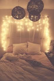hanging christmas lights in bedroom photo - 1