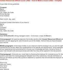 Gallery Of Human Resource Cover Letter Samples