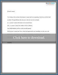 Divorce Letter Sample Interesting Divorce Notice Format