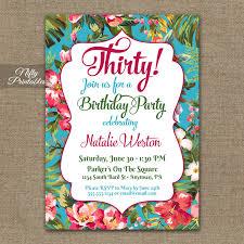 Tropical Party Invitations Tropical Birthday Invitations Hawaiian Luau Nifty Printables