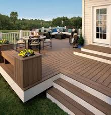 composite deck ideas.  Ideas Deck Ideas Like The Open Stairs Flower Box Bench Added To Square Deck  With Railings Not This BigWould Put Chaise Lounge And Sitting Chairs On Deck With Composite Ideas R