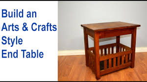 build an end table arts crafts style