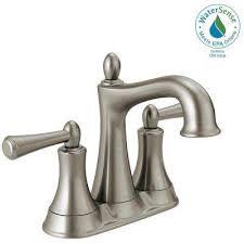 centerset 2 handle bathroom faucet in spotshield brushed nickel
