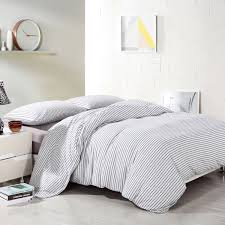 pure era ultra soft egyptian quality cotton jersey knit home bedding duvet cover set stripe
