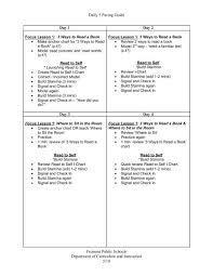 Daily 5 Pacing Guide K 5 Literacy Connections