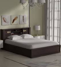 queen headboard with storage. Kumiko Queen Bed With Headboard Storage In Brown Sonoma Oak Finish By Mintwud