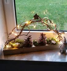 Beleuchdete Fensterdeko Auf Holz Mit Led Beleuchtung Und