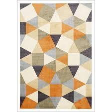 modern rug patterns. Wonderful Modern Sale Calais Orange Multi Coloured Geometric Squares Triangles Modern Rug   Rugs Of Beauty Intended Patterns