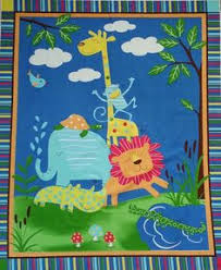 Australian Baby Animals Cot Quilt Kit, Pink | Fabric panels at ... & African Animals Asleep Cot Fabric Panel, 36