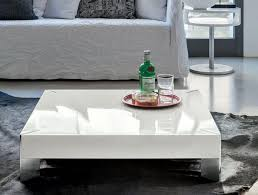 living room high gloss white coffee table modern side
