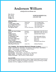 Show Resume Format Actor Resume Sample Presents How You Will Make Your Professional Or 18