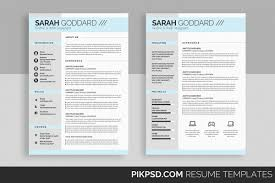Resume Template Design Stylish Resume Template Set By Business Design Bundles 45