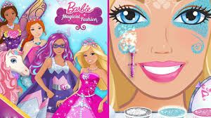 2016 barbie magical fashion princess mermaid fairy or even a unicorn dress up make up game hd