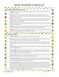 Sample Baby Shower Checklist 24 Baby Showers Checklist Examples Samples 1