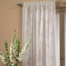 hawthorne embroidered sheer panel ivory