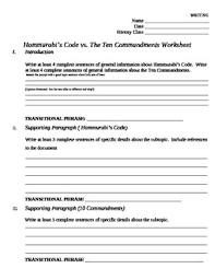 essay outline comparing hammurabi s code to the ten commandments essay outline comparing hammurabi s code to the ten commandments
