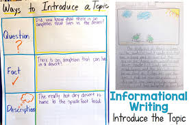 Introduce The Topic Informational Writing Week 2 Spade