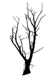 dead tree branches silhouette clipart