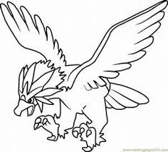 Images Of Legendary Bird Pokemon Coloring Pages Golfclub