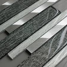 portland grey glass linear tile mosaic village luxury glass mosaic tiles uk