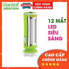 Đèn pin tích điện đa năng Sunhouse SHE-4200, 12 mắt LED siêu sáng, đèn pin  sạc cầm tay 2 chức năng giá cạnh tranh