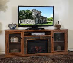 corner electric fireplace tv stand rustic