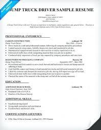 Cdl Resume Sample Best of Resume For Truck Driver Dump Truck Driver Resume Sample Resume