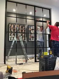 installation of crittall steel internal screen in manchester