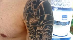 Cover Up Black And Gray Tattoo