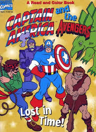 captain america and the avengers sc 1997 read and color 1 1st
