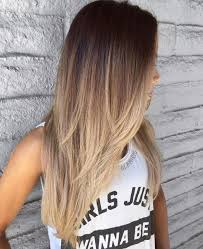 Hairstyles Ombre Hair Brown To Blonde Medium Length Straight Fab