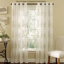marvelous design embroidered sheer curtains bright and modern lombard semi grommet curtain panels
