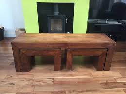 next dakota mango wood side coffee table nest of tables