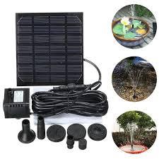 Online Shop <b>1.5W Solar Garden Fountain</b> Pump Solar Garden ...