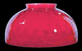 cranberry parlor lamp shade