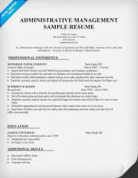 Gallery Of Example Resume Sample Resume Administrative Manager