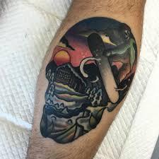 Healed Early Powder Skull Colormania Skull Tattoos и