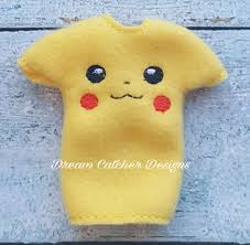 Dream Catcher Dolls ITH Small DollElf Pikachu Sweater and Shirt Embroidery Design 100 96